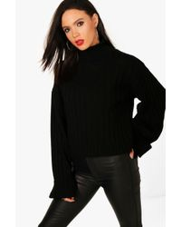 Boohoo - Tall Alaina Maxi Wide Sleeve Rib Jumper - Lyst
