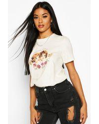 Boohoo Angels With Attitude Slogan T-shirt - Natural