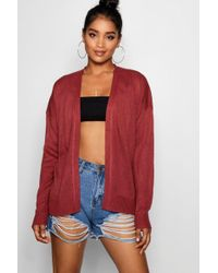 Boohoo - Loose Fit Boxy Cardigan - Lyst