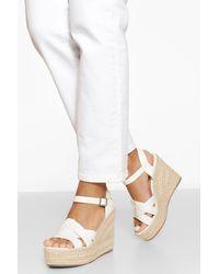Boohoo Womens Sandalen Mit Keilabsatz - Weiß