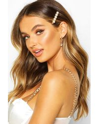 Boohoo Embellished Pearl Hair Clips - Multicolour