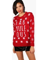 Boohoo - Charlotte Fab-yule-ous Christmas Jumper - Lyst