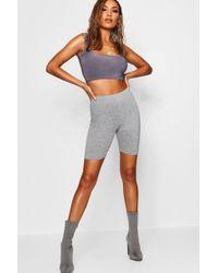 Boohoo Grey Marl Cycling Shorts - Gray