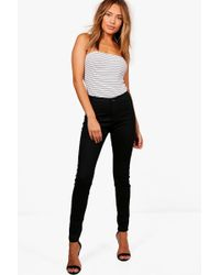 Boohoo - High Rise Tube Jeans - Lyst