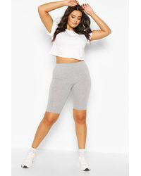 Boohoo Womens Plus Jersey Longline Cycle Short - Grey