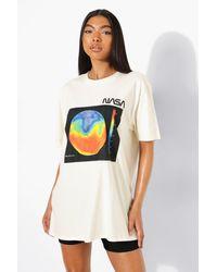 Boohoo Camiseta Tall Oversize De Nasa Con Arcoíris - Neutro