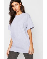 Boohoo Basic Oversized Boyfriend T-shirt - Gray