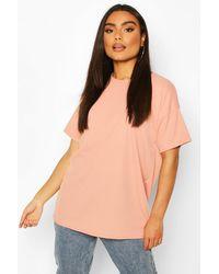 Boohoo - Ribbed Oversized T-shirt - Lyst