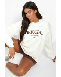 Boohoo Official Collection Embroidered Short Tracksuit - Brown
