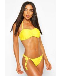 Boohoo Basic Bandeau Bikini - Yellow