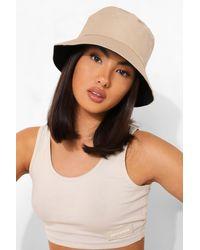 Boohoo Bucket Hat - Natural