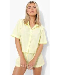 Boohoo Camisa De Pijama Ligera - Amarillo