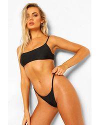 Boohoo Tanga De Bikini Essentials - Negro