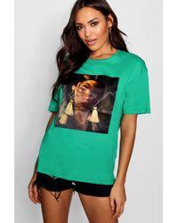 Boohoo - Tassle Earring Face T-shirt - Lyst
