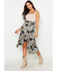 cff7d66c4a6b Boohoo Gia Split Front Glitter Star Mesh Maxi Skirt in Black - Lyst