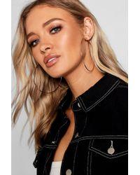 Boohoo - Plain 9cm Hoop Earrings - Lyst