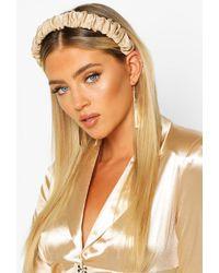 Boohoo Womens Satin Ruched Headband - Natural