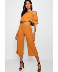 Boohoo - Double Bandeau Top And Culotte Co-ord - Lyst