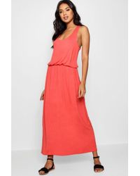 Boohoo - Racer Back Maxi Dress - Lyst