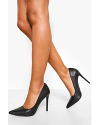 Boohoo Pointed Court Shoes - Black