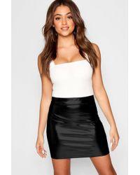 e2b5678edd0b0 Boohoo Foil Print Frill Hem Maxi Skirt in White - Lyst