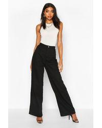 Boohoo Tall High Rise Wide Leg Jeans - Black