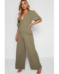 f54fd671d820 Missguided White Bardot Puff Sleeve Jumpsuit in White - Lyst