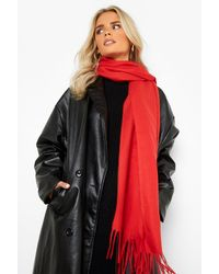 Boohoo Basic Light Weight Scarf - Red