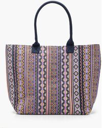 Boohoo - Aztec Oversized Beach Bag - Lyst