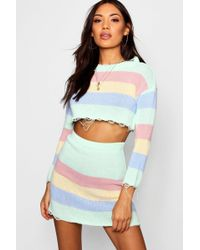 Boohoo - Knitted Pastel Co-ord Set - Lyst