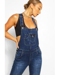 Boohoo Denim Overalls - Blue