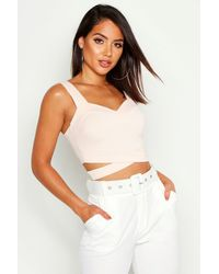 Boohoo - Cut Out Bralet - Lyst