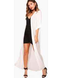 Boohoo Maxi Kimono - Bianco