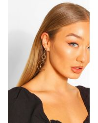 Boohoo Sun And Moon Statement Earrings - Multicolour