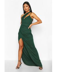 Boohoo One Shoulder Maxi Dress - Green