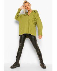 Boohoo Camisa De Algodón Con Tirantes Estilo Halter - Verde
