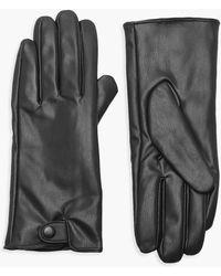 Boohoo Pu Popper Gloves - Black