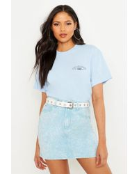 Boohoo Tall Los Angeles Pocket Print T-shirt - Blue