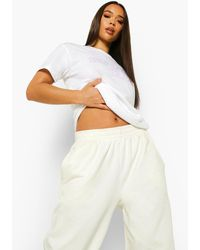Boohoo White Self Care Club T Shirt