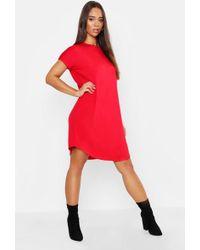 Boohoo - Basic Curved Hem T-shirt Dress - Lyst