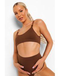 Boohoo Maternity Seamless Scoop Nursing Bra 2 Pack - Brown