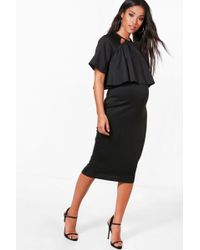 Boohoo - Maternity Double Layer Wiggle Dress - Lyst