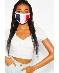 Boohoo Mascherina per il viso alla moda motivo bandiera francese - Multicolore