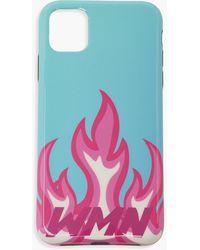 Boohoo Wmn Flames Iphone Xr Phone Case - Blue