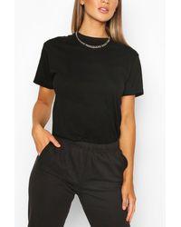 Boohoo T-Shirt Basique Coupe Oversize - Noir