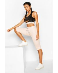 Boohoo Fit Lace Up Waist Cycling Short - Rose