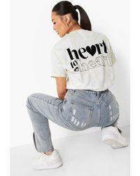 Boohoo Tie Dye Back Print T-shirt - Multicolour