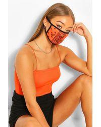 Boohoo Woman Paisley Fashion Face Mask - Orange