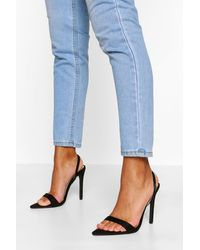 Boohoo Pointed Toe Slingback Two Parts - Black