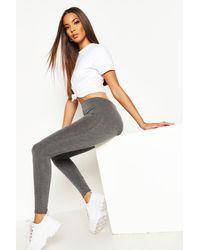 Boohoo Womens Basic Jersey Leggings - Green